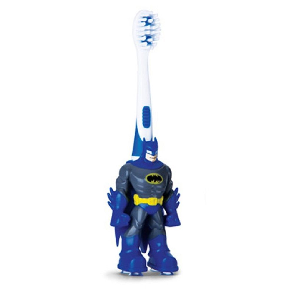 Escova Dental Infantil DC Super Friends - Batman - Frescor  - Extra Macia - 2 a 5 anos