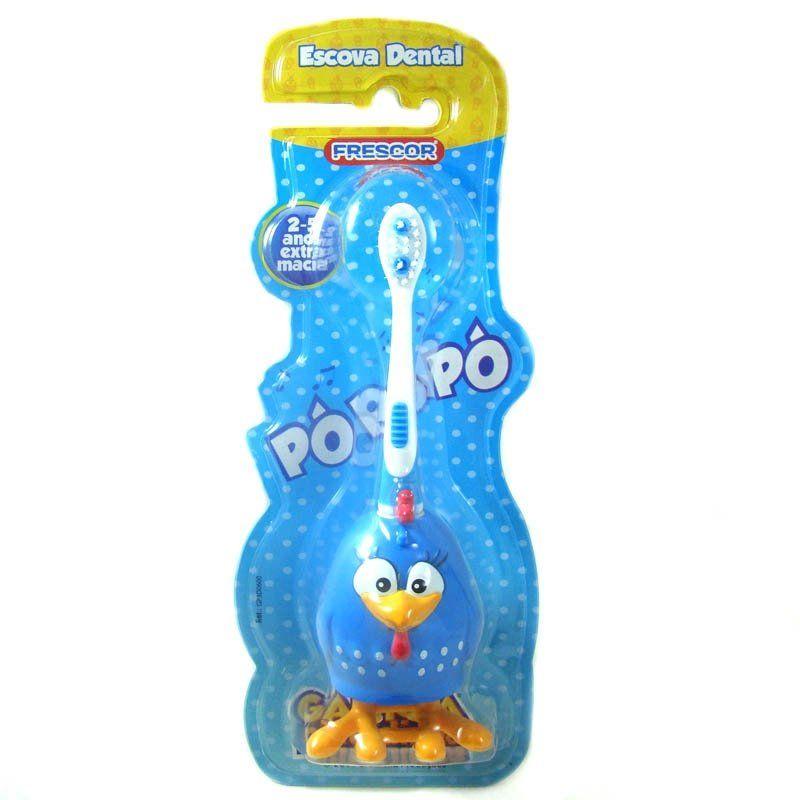 Escova Dental Infantil - Galinha Pintadinha - 2 a 5 Anos - Frescor