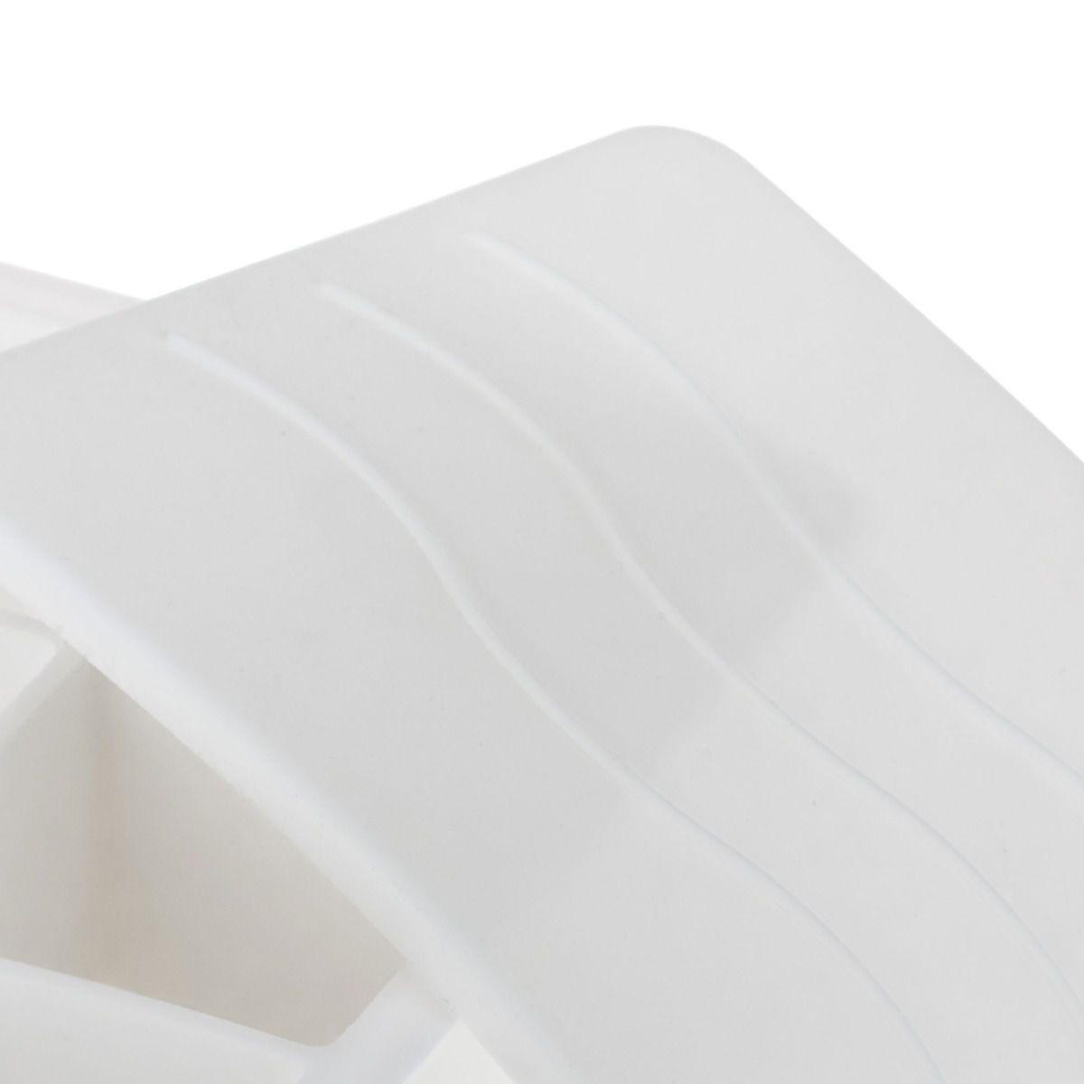 Forma de Gelo com Tampa - Cubo Grande Silicone Branco  - Weck