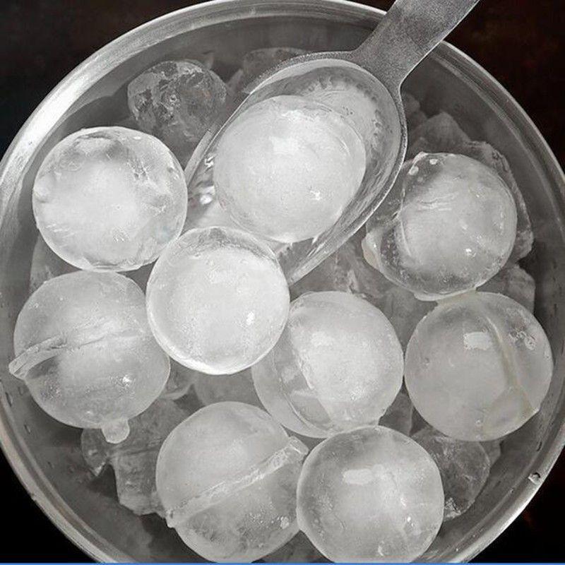 Forma de Gelo Esfera 5,5cm- Silicone 02 Esferas - Cor  Cinza