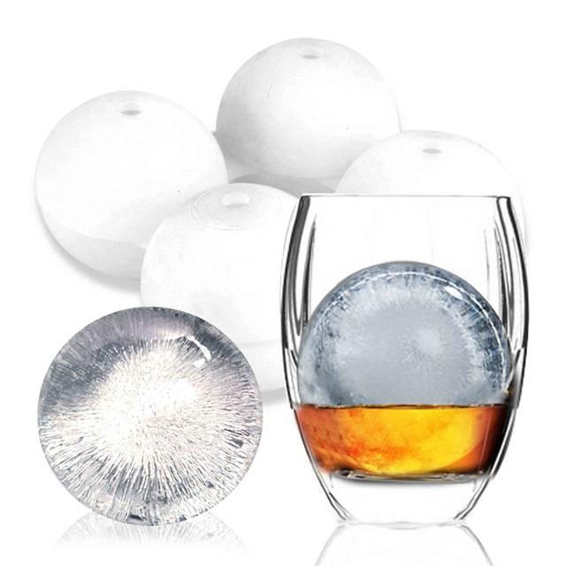 Forma de Gelo Esfera 5,5cm - Silicone 02 Esferas - Cor Vermelha