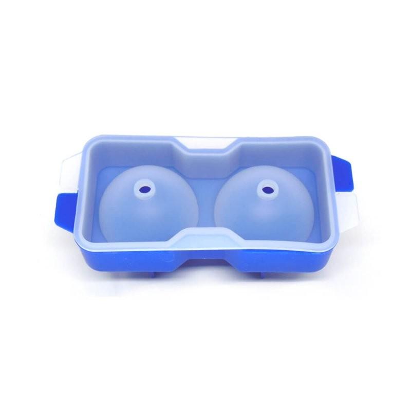 Forma de Gelo Esfera 5,5cm - Silicone 02 Esferas - Cor Azul