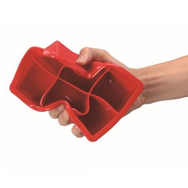Forma para Gelo Silicone Cubo Grande Drinks Whisky