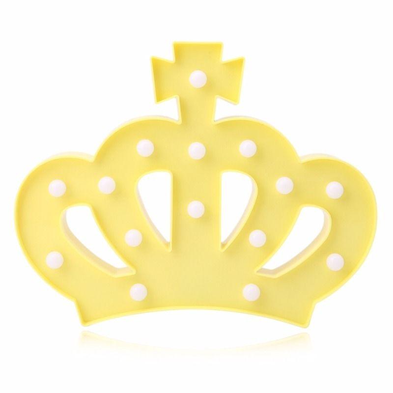 Luminária Led Coroa Amarela Mesa Parede Decoração