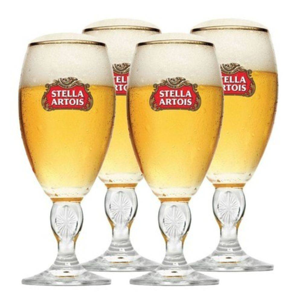 Maleta com  4  Taças Stella Artois 250ml