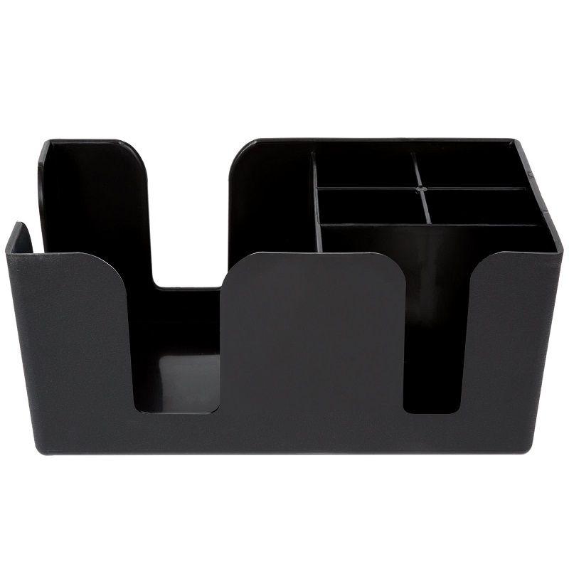 Organizador Bar Caddy Plástico Porta Canudos e Guardanapos