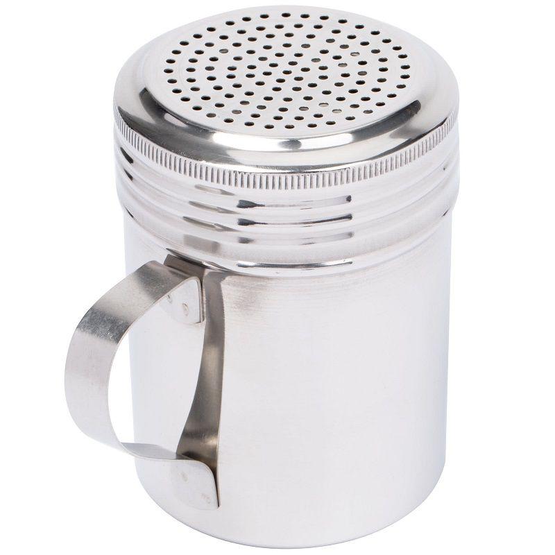 Polvilhador Aço Inox 300ml/10 oz - Linha Profissional