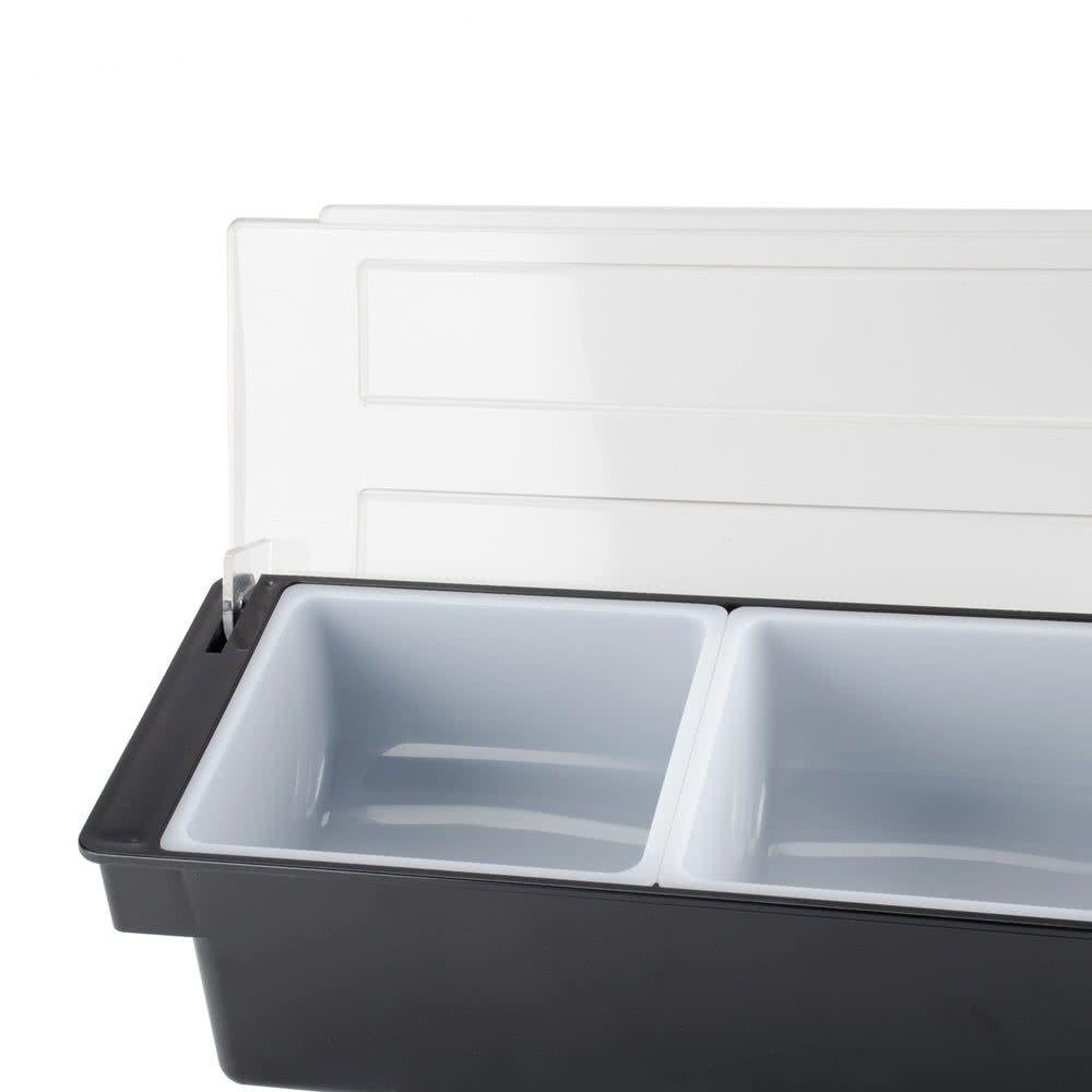 Porta Condimentos Bar Servir e Armazenar Gelo e Frutas 3 Divisões