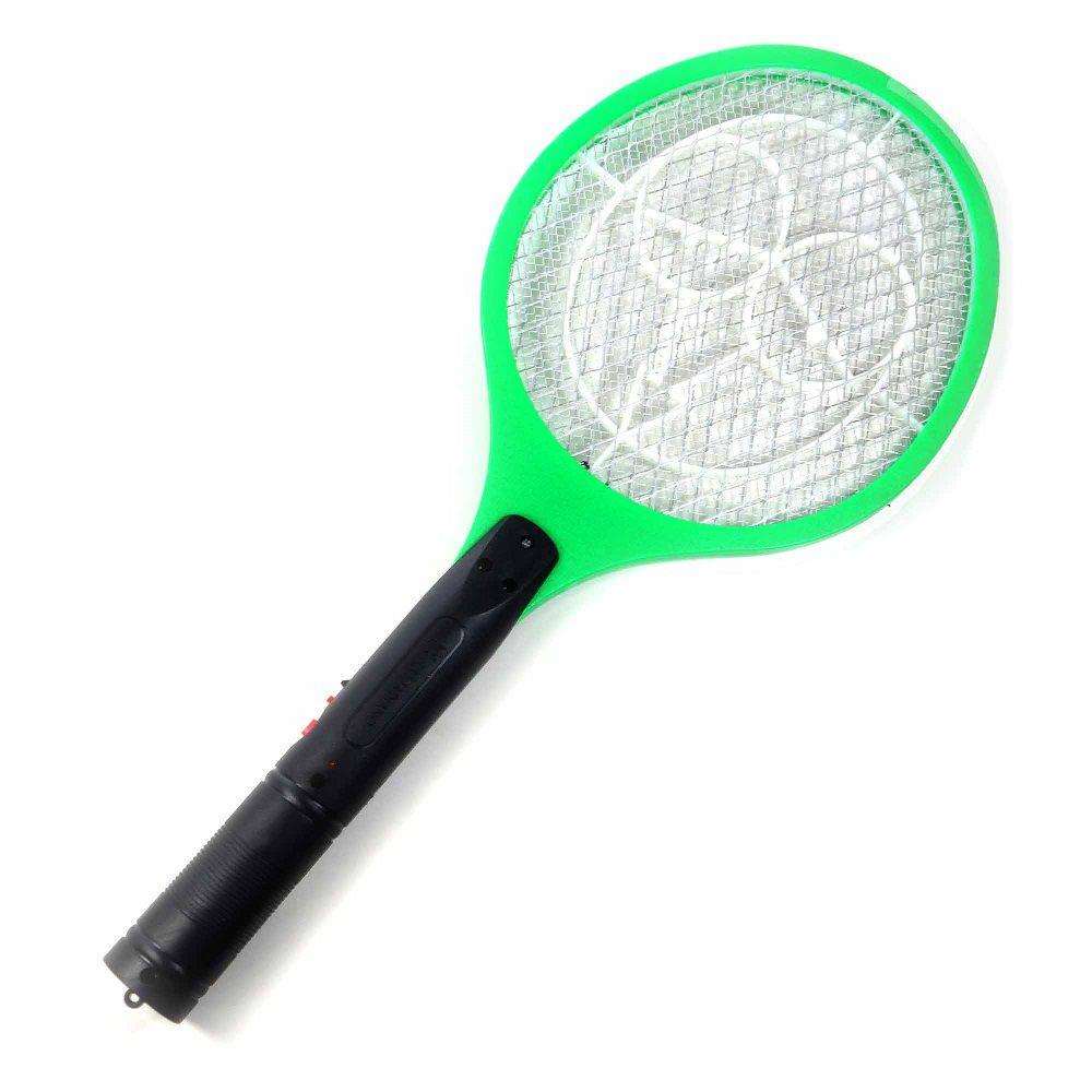 Raquete Mata Moscas Pernilongos e Mosquitos Recarregável