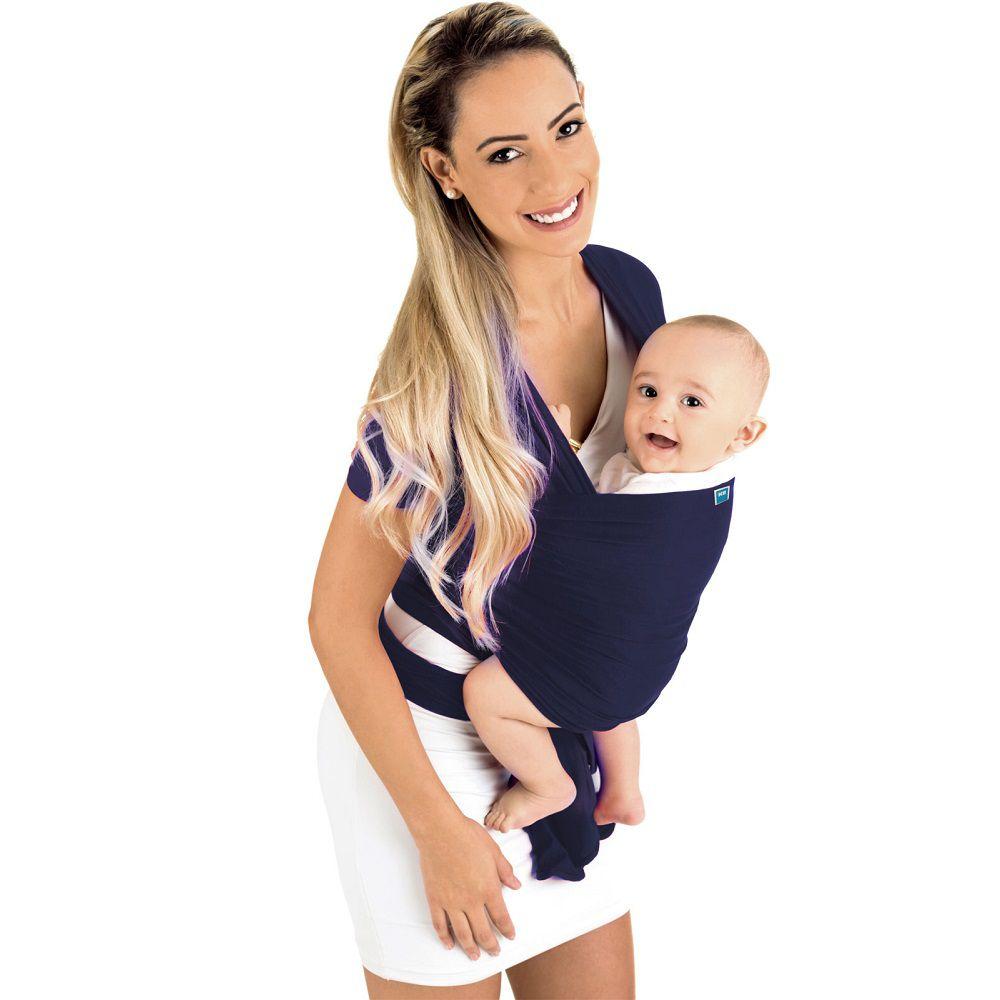 Sling Wrap Azul Marinho - Mamãe Passeio - Kababy - Noah Shop