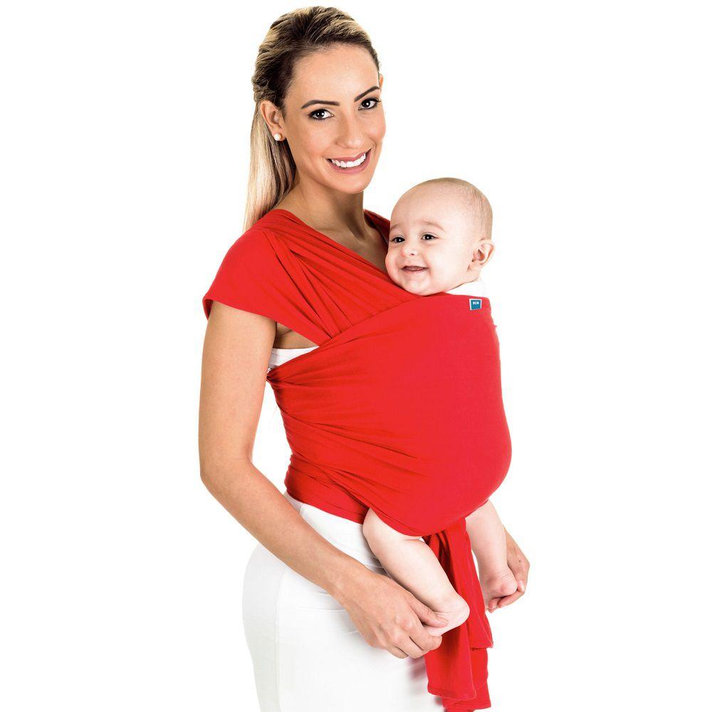 Sling Wrap Vermelho - Mamãe Passeio - Kababy