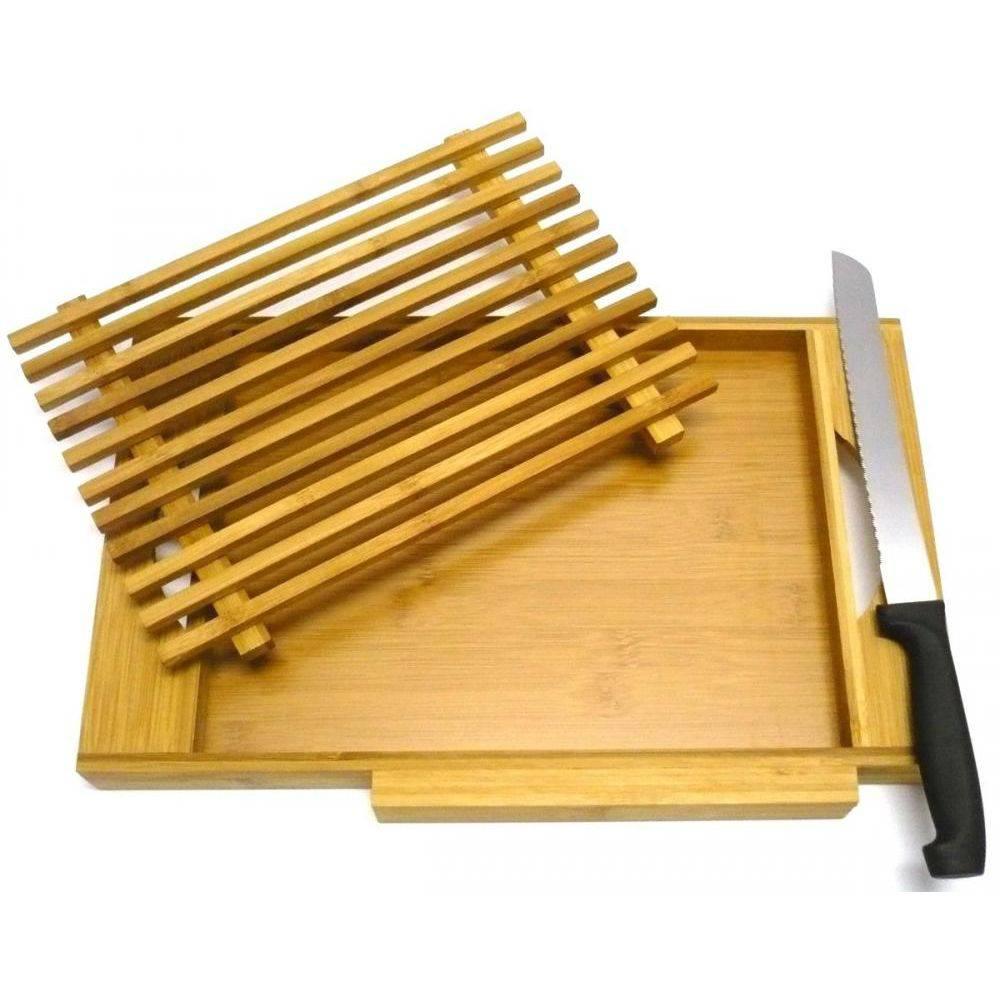 Migalheira de Bambu - Acompanhada de 01 faca em aço inox.
