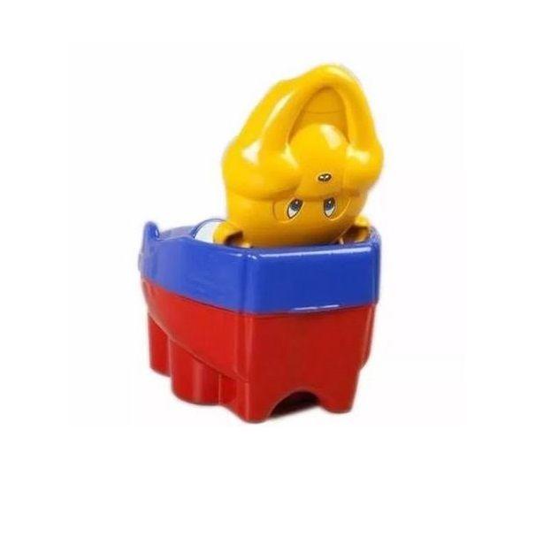 Troninho Musical Urso - Maximus Baby -  Vermelho Amarelo Azul - Menino