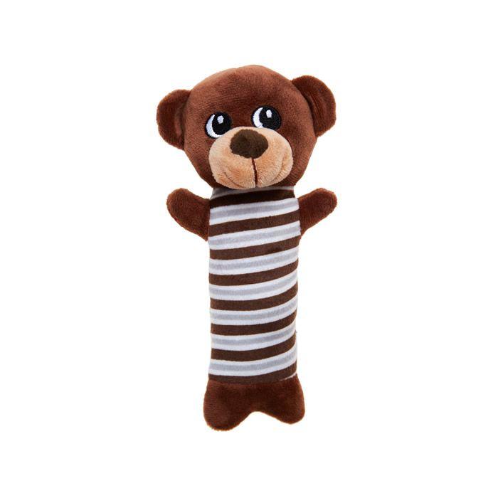 Urso Pelúcia Marrom Brinquedo Para Cães