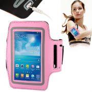 Suporte Braço Armband Corrida Iphone Samsung Galaxy Motorola Nokia Lg Universal Rosa