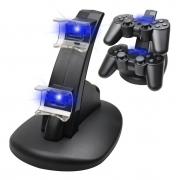 Carregador Duplo Para Controle Playstation 3 Compatível