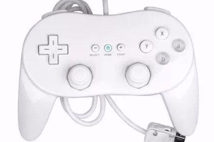 Controle Classic Pro Joystick Nintendo Wii Branco