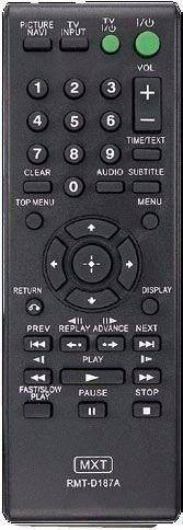 Controle Remoto Dvd Sony Rmt-d187a Dvp-sr200p  DVP-NS728H DVP-NS700HP DVP-SR500HP DVP-SR510H DVP-SR310P DVP-SR400P
