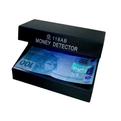 Detector Testador Dinheiro Nota Identificador Falso Real Dolar Euro Selo