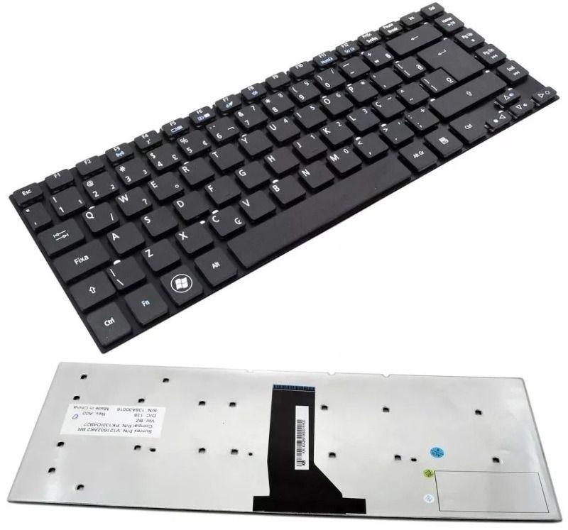 Teclado do Notebook Acer Aspire V3-431 V3-471 V3-471G E5-411 E5-471 E51-411 ES1-511 ES1-421 ES1-411 MP-10K26PA-6961 MP-10K26PA-9209W