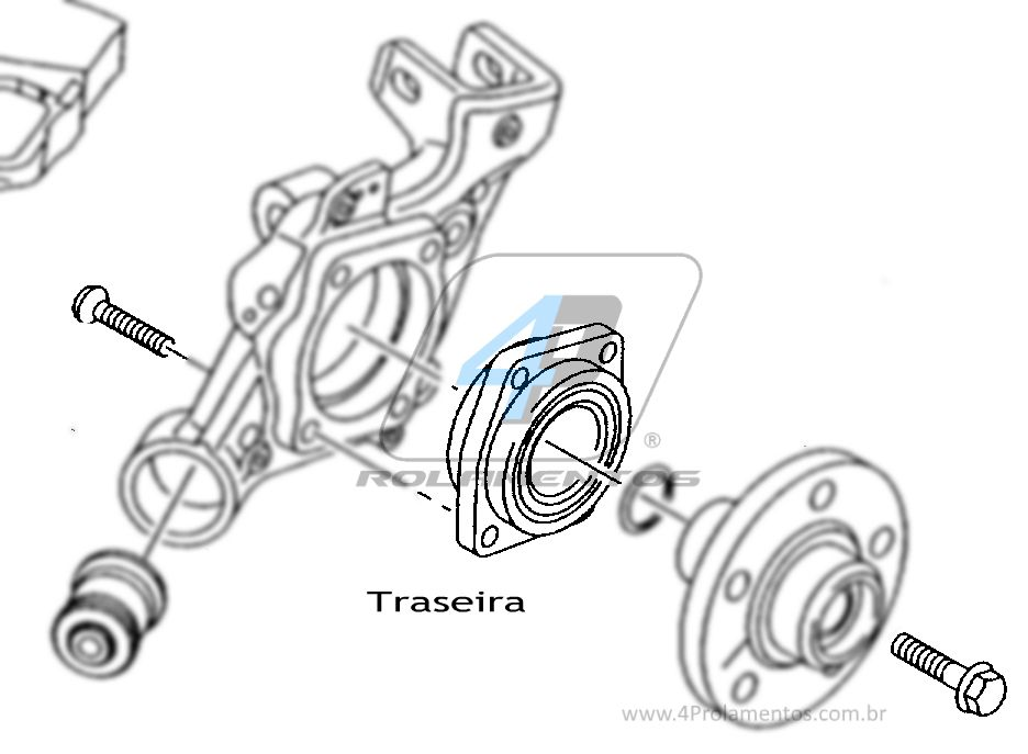 Cubo de Roda AUDI RS6 2008 até 2010, AWD, com ABS