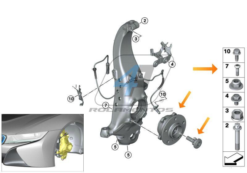 Cubo de Roda BMW i8 de 2014 até 2020