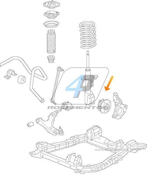 Cubo de Roda CADILLAC SRX 2010 á 2016, com ABS
