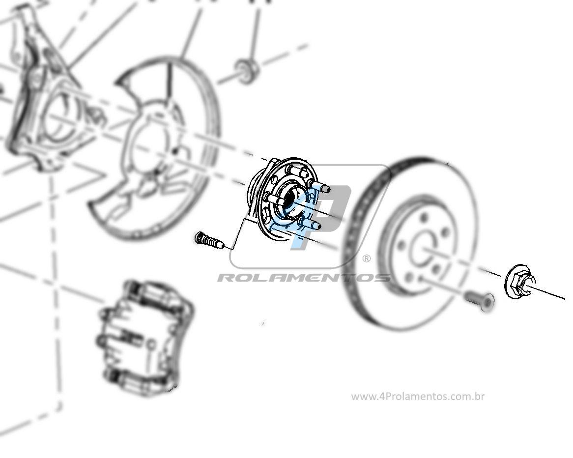 Cubo de Roda CHEVROLET Malibu 2013, com ABS