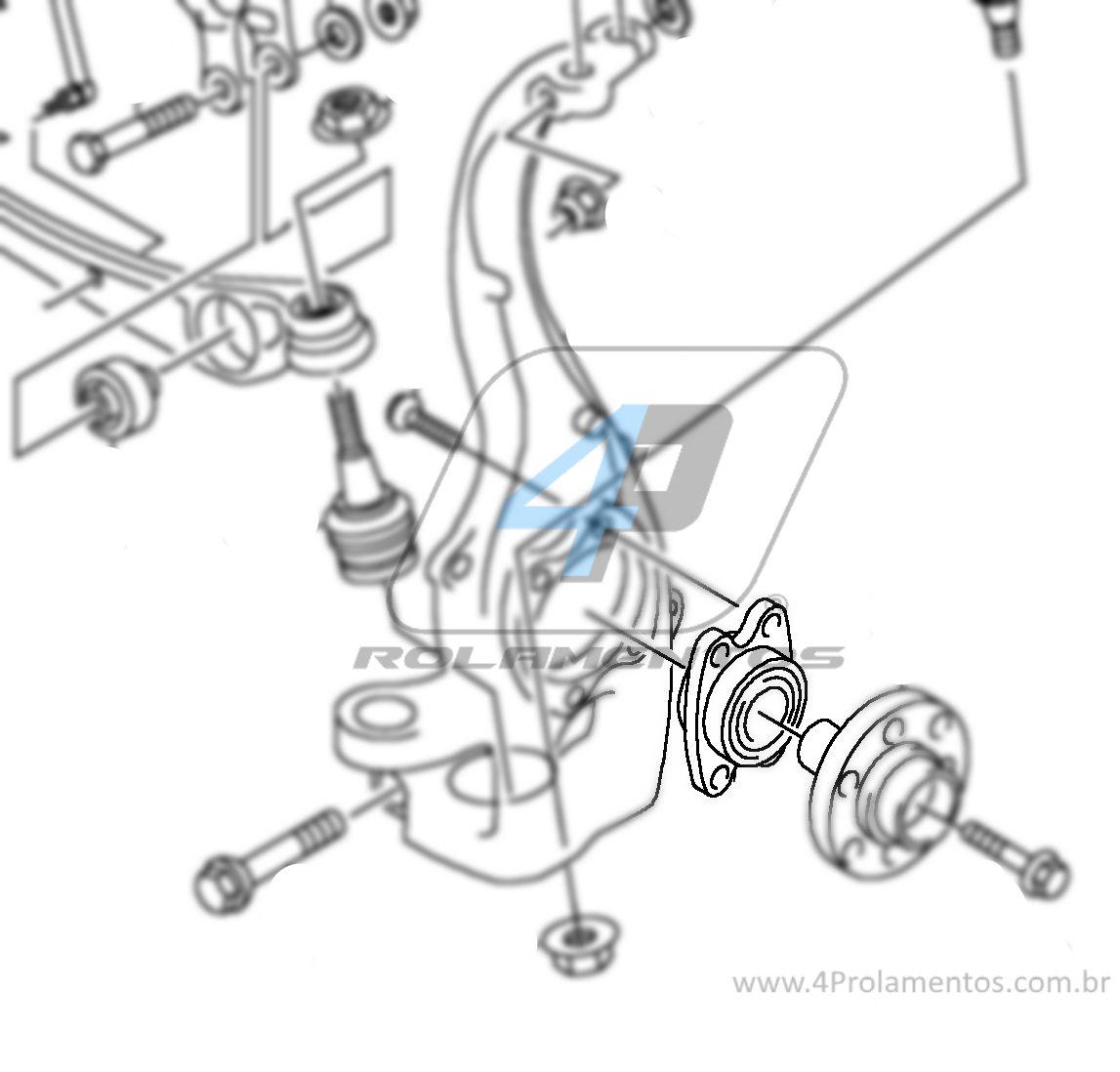 Cubo de Roda Dianteira AUDI A4 2009 até 2015