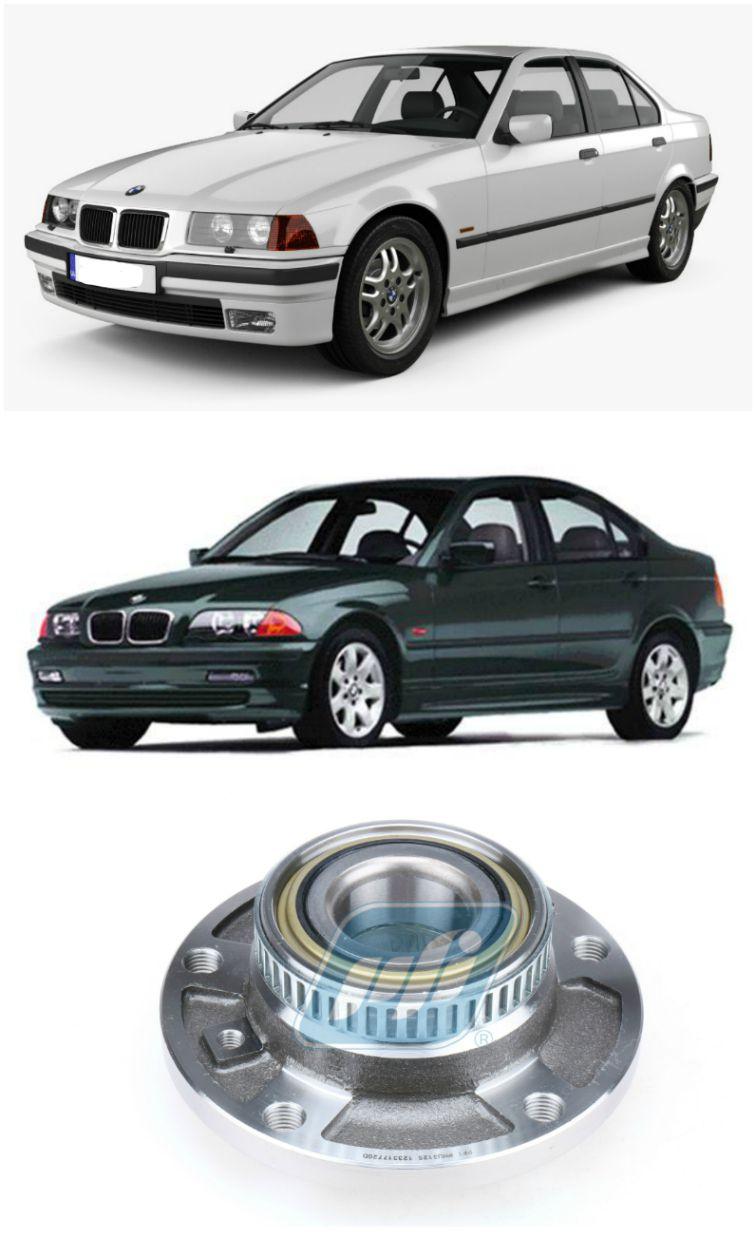 Cubo de Roda Dianteira BMW 330i/330ci 1992 até 2006, com ABS