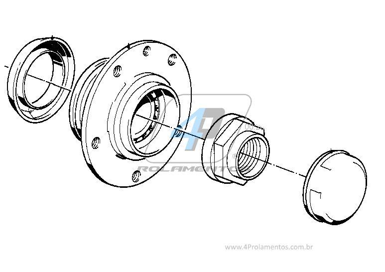 Cubo Roda Dianteira BMW 316i/318i/320i/323i/325i 1982 até 1991, com ABS