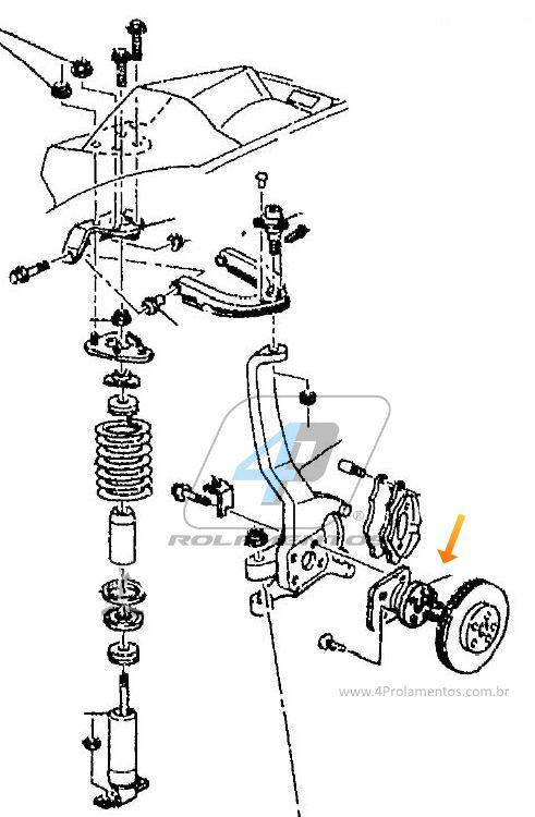 Cubo de Roda Dianteira CHEVROLET Camaro 1993 até 2002, com ABS