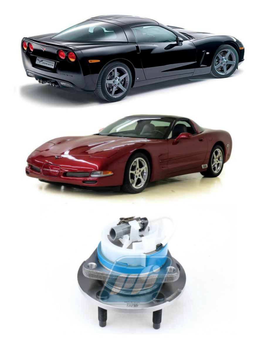 Cubo de Roda Dianteira CHEVROLET Corvette 1997-2008, com ABS