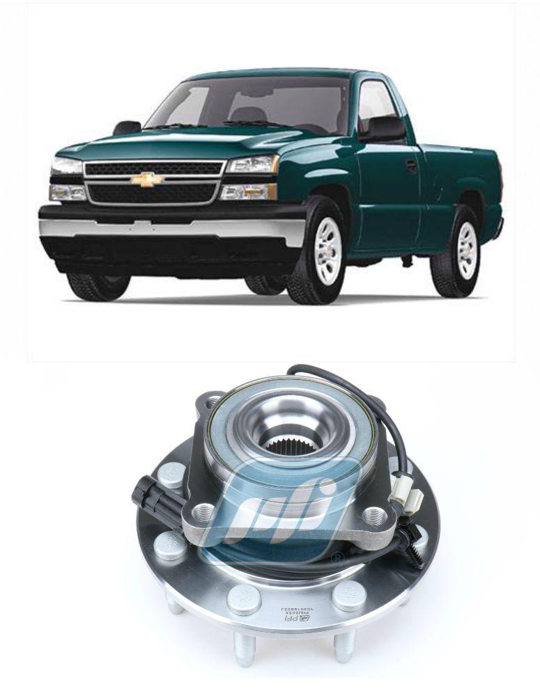 Cubo de Roda Dianteira CHEVROLET Silverado 2001-2007, 8 furos