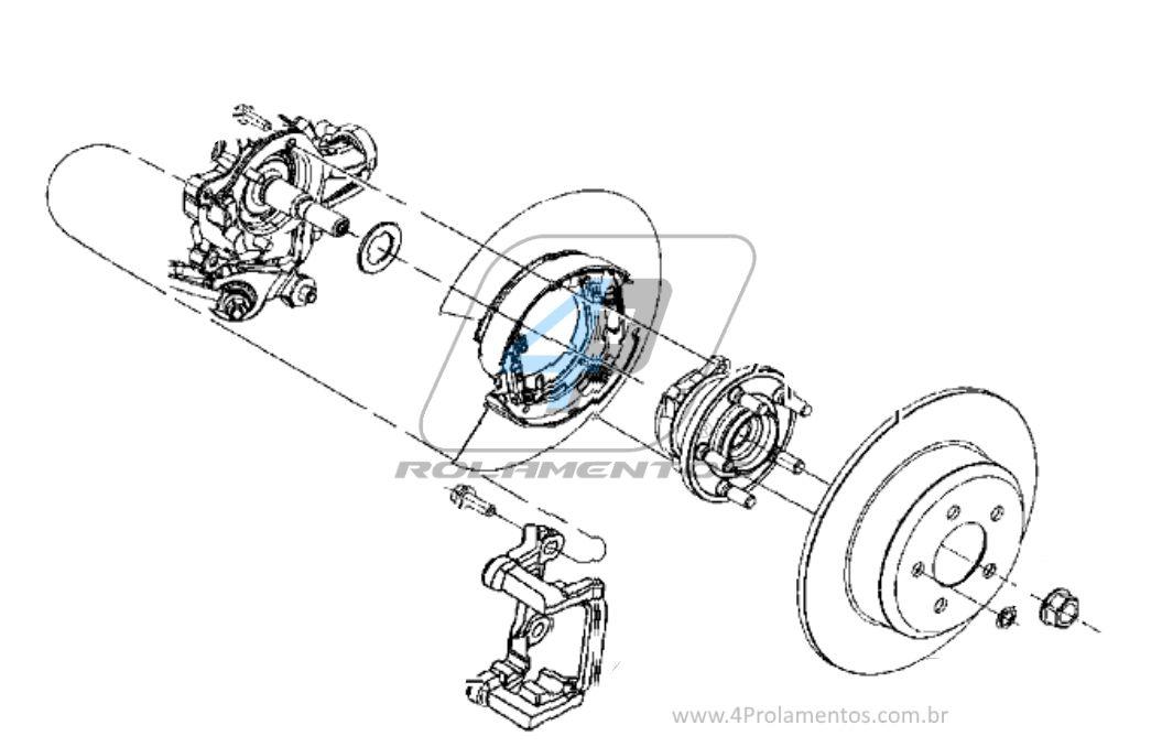 Cubo de Roda Dianteira CHRYSLER 300C 2005 até 2016, AWD, com ABS