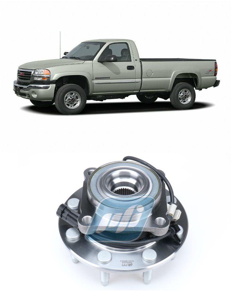 Cubo de Roda Dianteira GMC Sierra 1999 até 2007, 8 furos