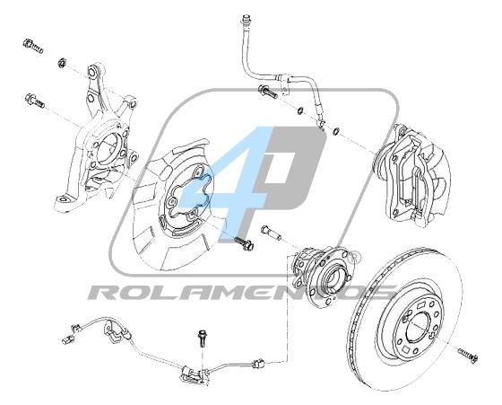 Cubo de Roda Dianteira HYUNDAI Genesis Coupe 2010 até 2016, com ABS