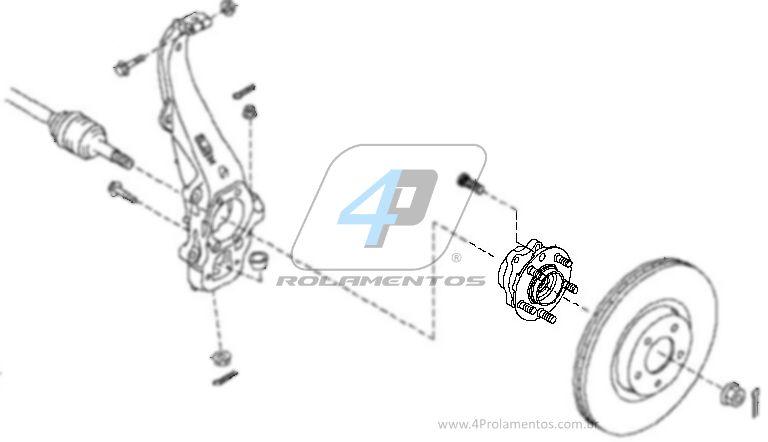 Cubo de Roda Dianteira INFINITIQX56 2013 até 2017