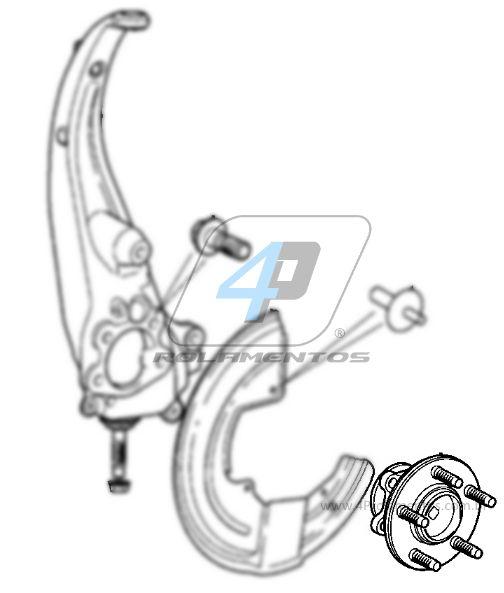 Cubo de Roda Dianteira Jaguar F-Type 2013 até 2018, RWD