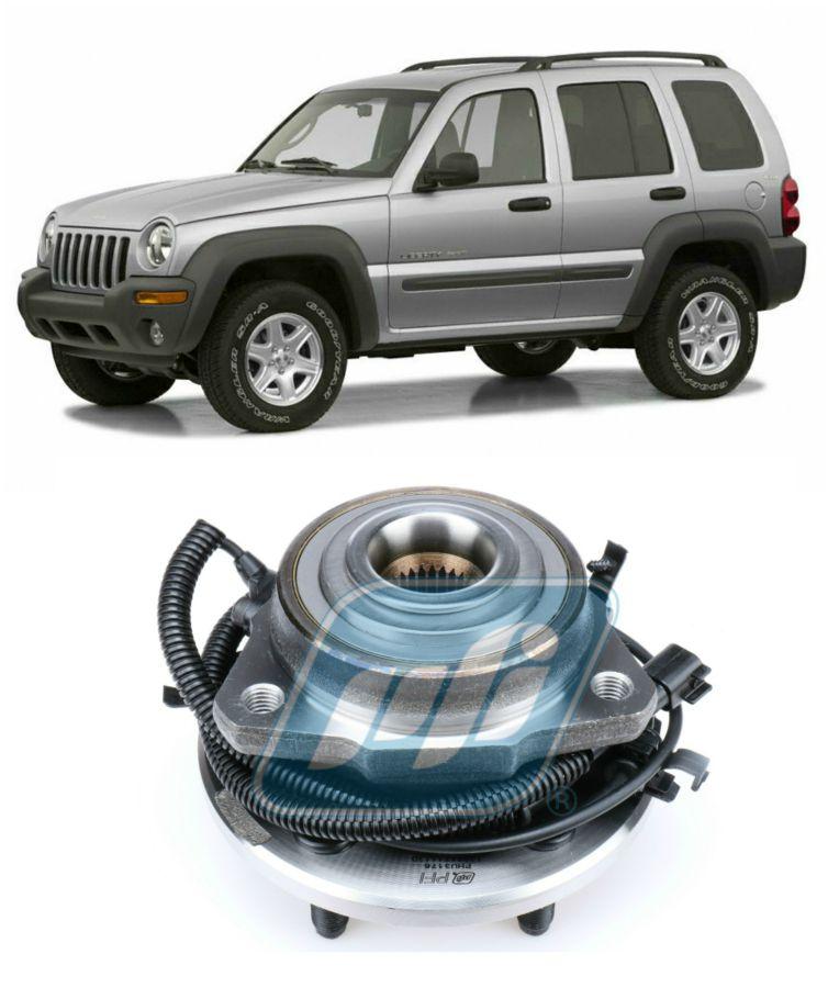 Cubo de Roda Dianteira JEEP Cherokee Sport 2002 até 2007, com ABS, lado esquerdo (Motorista)