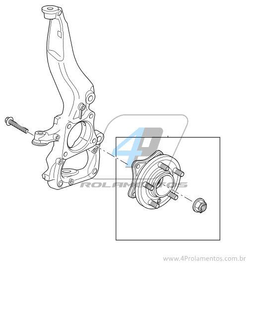 Cubo de Roda Dianteira LAND ROVER Range Rover Sport 2006 até 2013