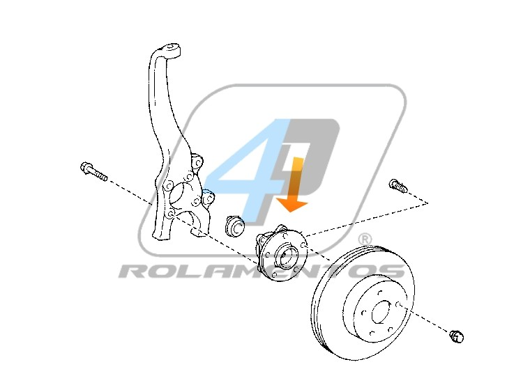 Cubo de Roda Dianteira Lexus NX 2014 até 2020