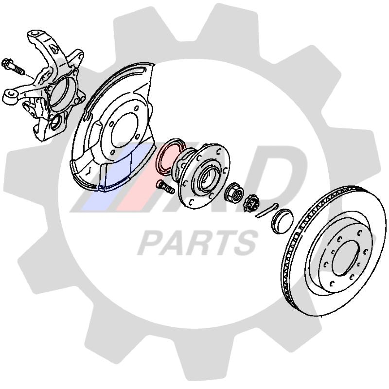 Cubo de roda Dianteira MITSUBISHI L200 Triton 2007 até 2018