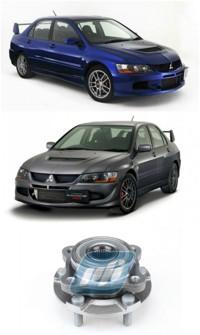 Cubo de Roda Dianteira Mitsubishi Lancer Evo 2004-2007, AWD