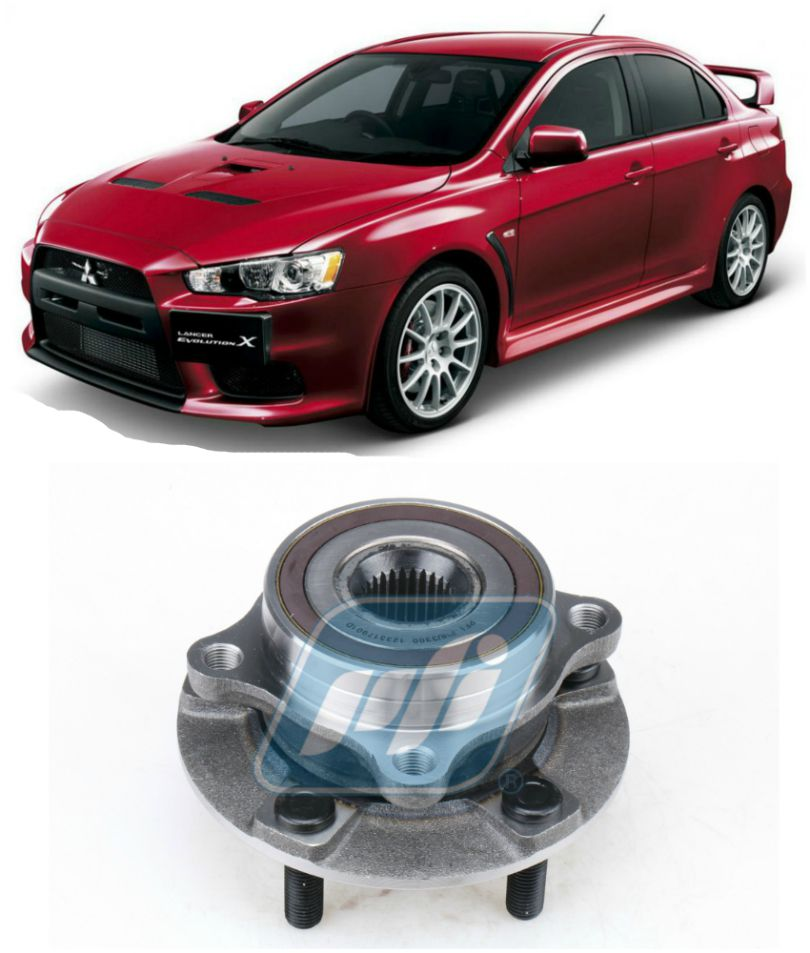 Cubo de Roda Dianteira Mitsubishi Lancer EVO 2008 até 2016, AWD, com ABS