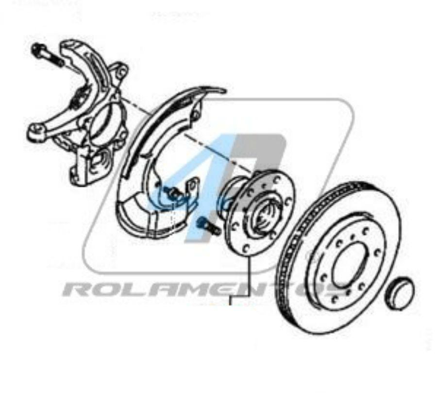 Cubo de Roda Dianteira MITSUBISHI Pajero Dakar 2009 até 2017