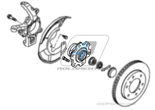 Cubo de Roda Dianteira MITSUBISHI Pajero Full 2000 até 2006