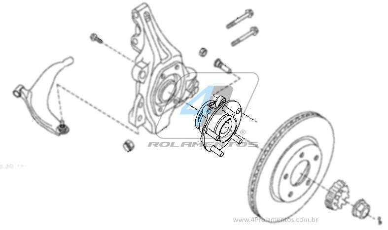 Cubo de Roda Dianteira RENAULT Safrane 2010, com ABS
