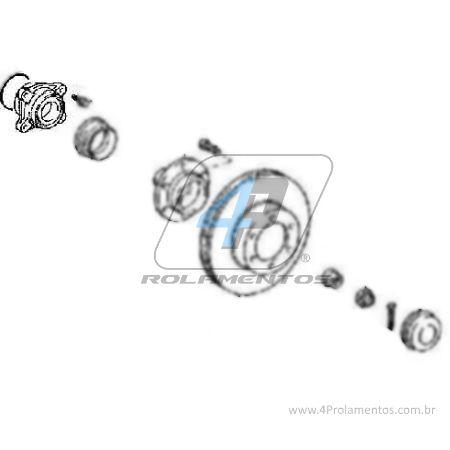 Cubo de Roda Dianteira TOYOTA FJ Cruiser 2007 até 2014
