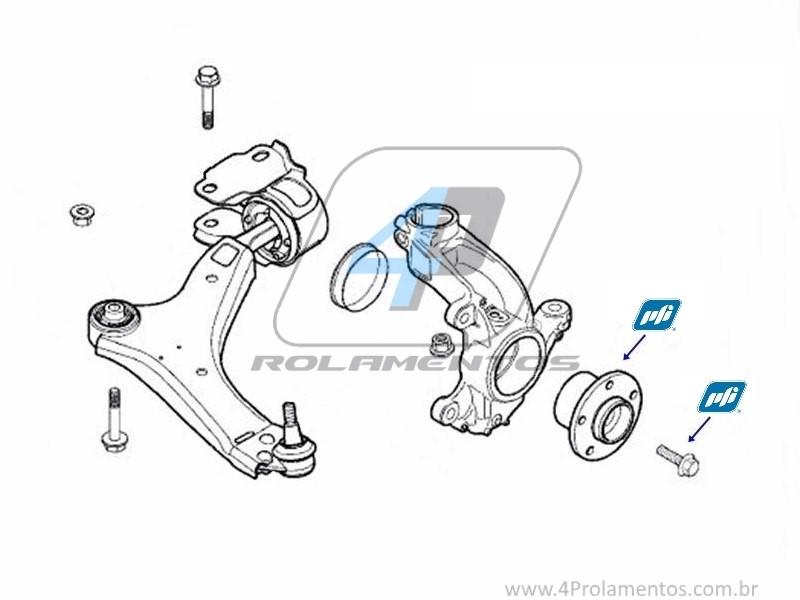 Cubo de Roda Dianteira VOLVO V60 2011 até 2017